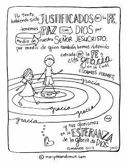 spanish bible verse coloring page romanos 5 1 2 spanish bible