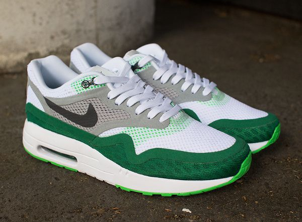 Nike Air Max 1 Breathe WhitePine Green | Nike air max, Nike