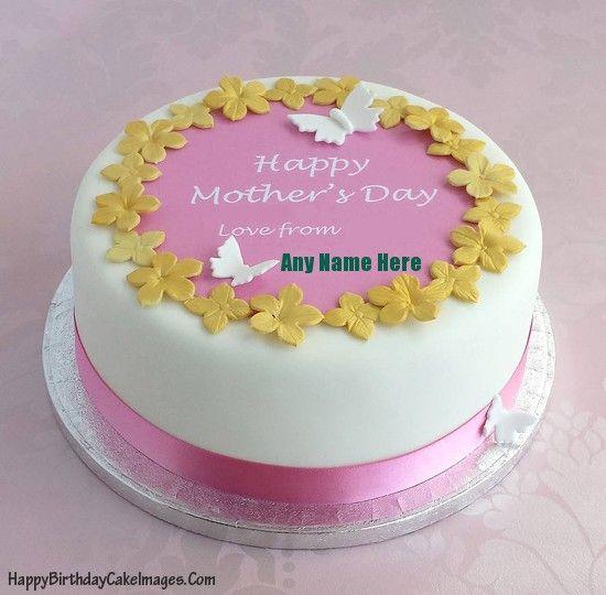 Write Name On Mothers Day Cake Image Happy Birthday Cake Images Mothers Day Cakes Designs Mothers Day Cake Cake Decorating Kits