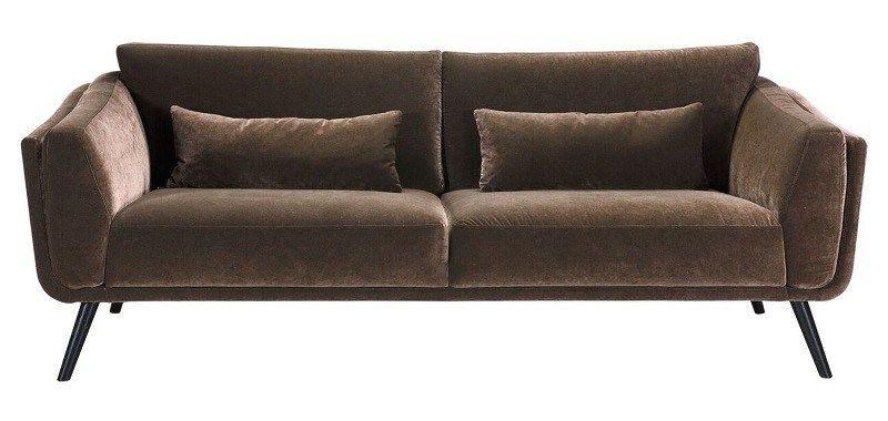 Velour Sofa pelham 3 pers sofa brun velour store