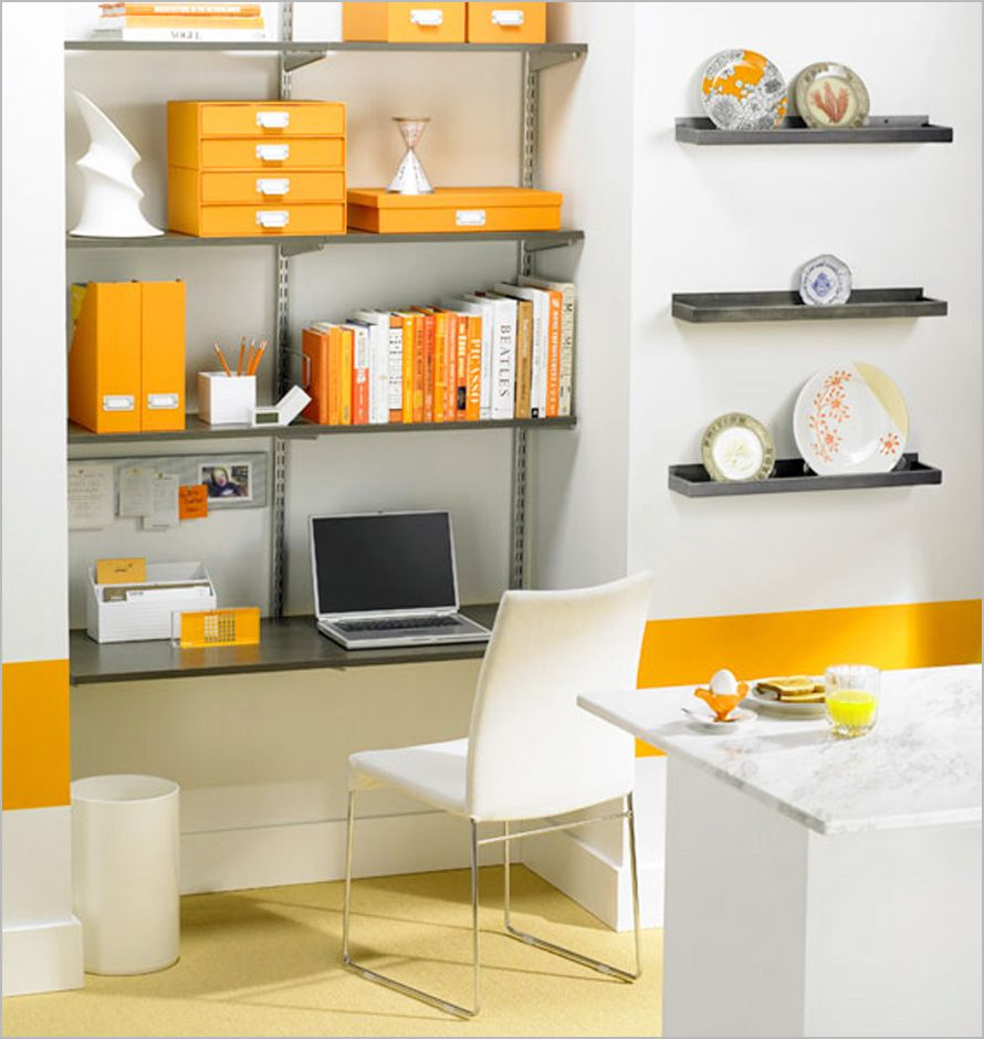 Architecture , Small Office Design Ideas : Coloring Small