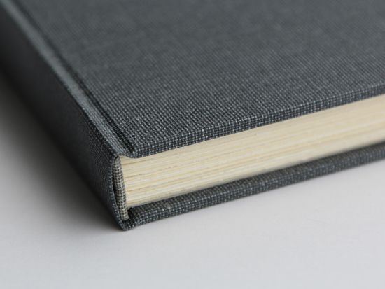 Material Of Book Cover ~ Spine detail of dark gray full cloth book great binding