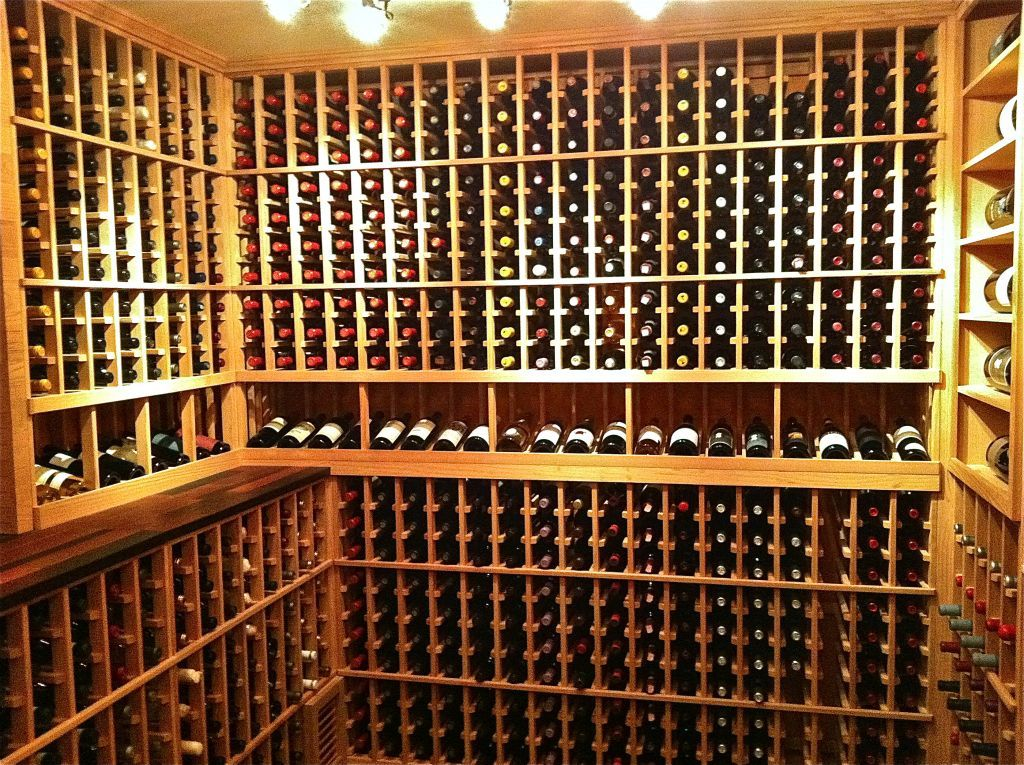 how to build a wine rack in a closet