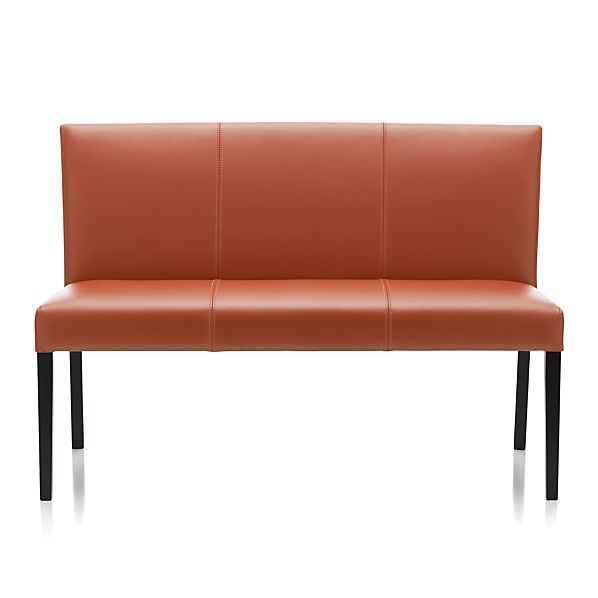 Lowes Lowe Persimmon Leather Bench