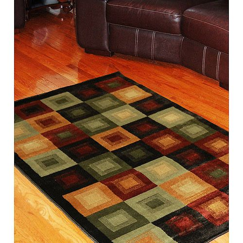 A Little Small But I Love The Colors And You Can T Go Wrong With Squares 92 96 For 5x8 Brown Area Rugs Area Rugs Rugs