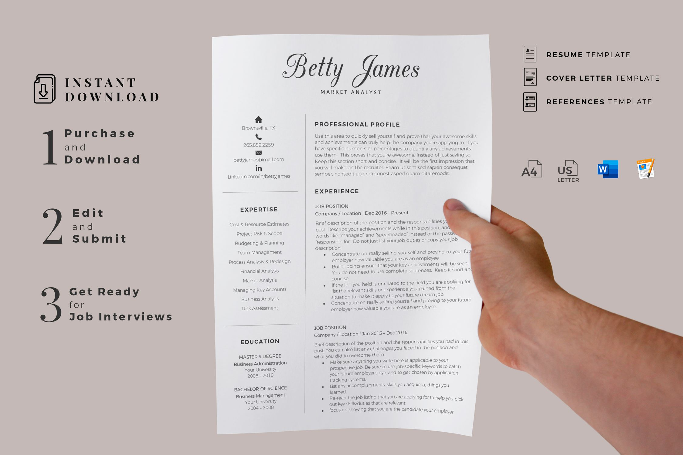 Creative Resume Templates For Ms Word And Mac Pages Professional Resume Templates And Matchi Cover Letter For Resume Creative Resume Templates Resume Template