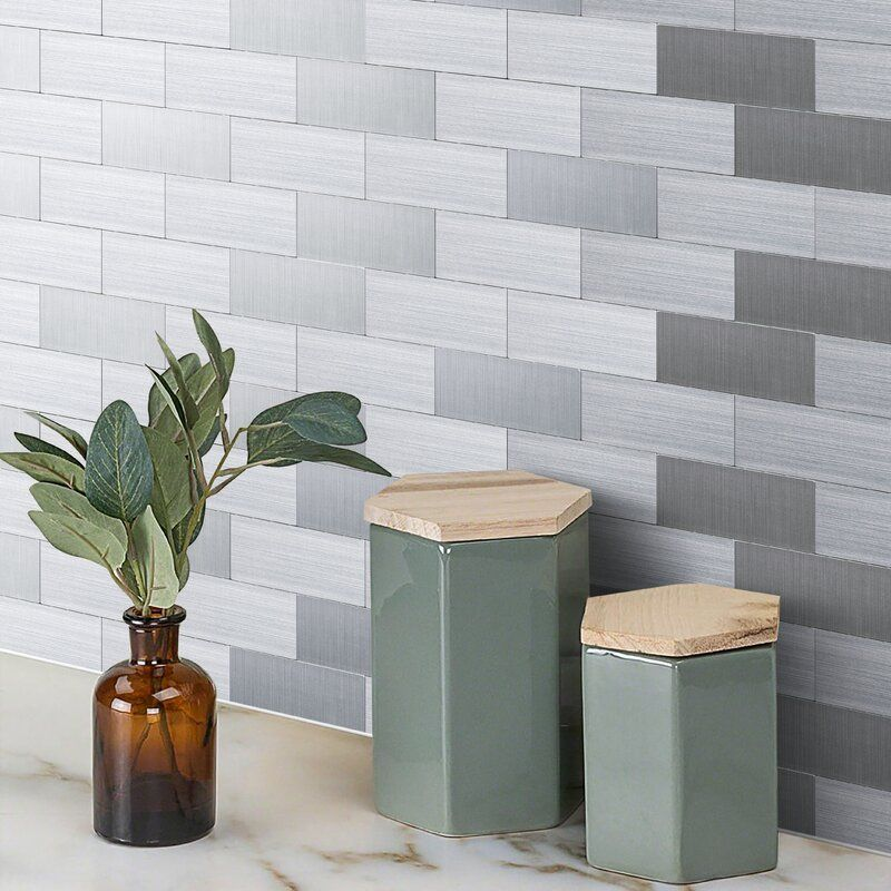 12 X 12 Metal Peel Stick Mosaic Tile Peel Stick Backsplash Peel N Stick Backsplash Tile Backsplash