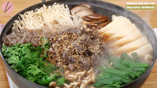 Korean Beef Hot Pot Bulgogi Jeongol Recipe Video Seonkyoung Longest Recipe Bulgogi Hot Pot Korean Beef
