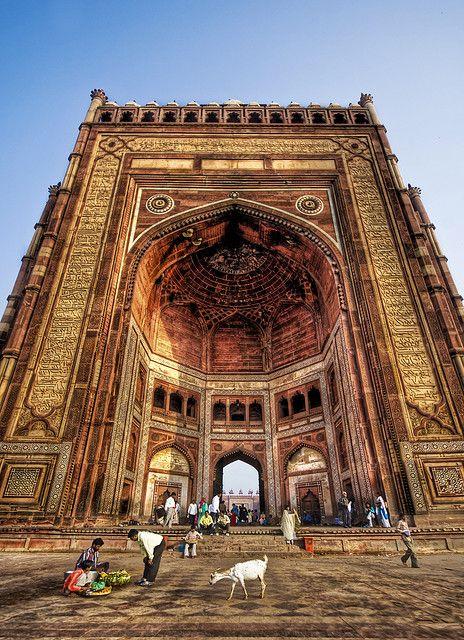 The Buland Darwaza Highest Gateway In World Fatehpur Sikri Uttar Pradesh India