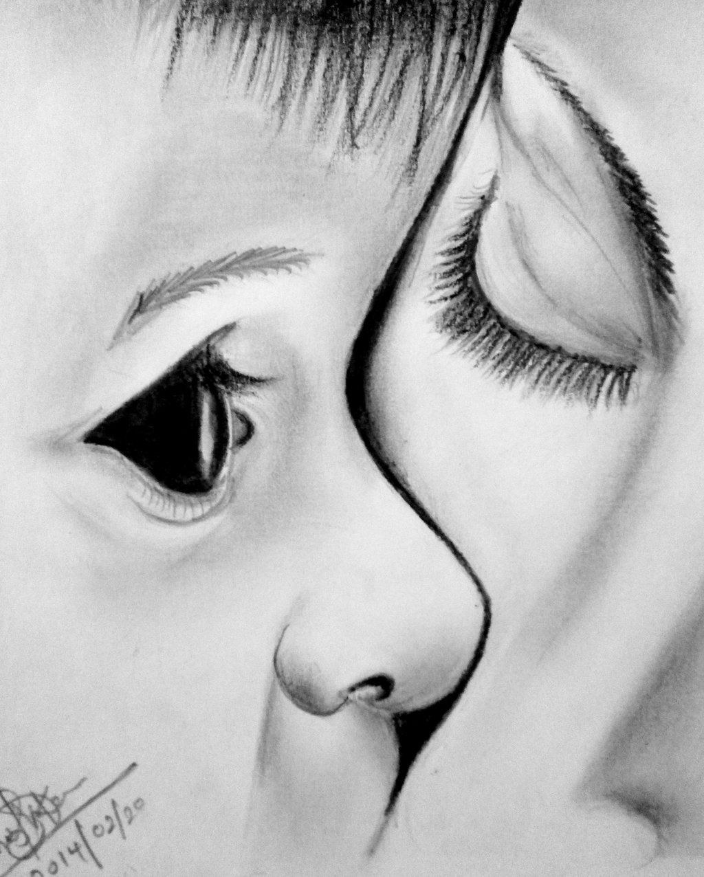 baby and mother love pencil art by Dhanu92TENSHI ...