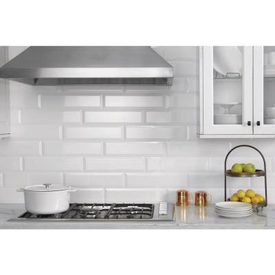 Best Daltile Finesse Bright White 4 In X 16 In Ceramic Sharp 400 x 300