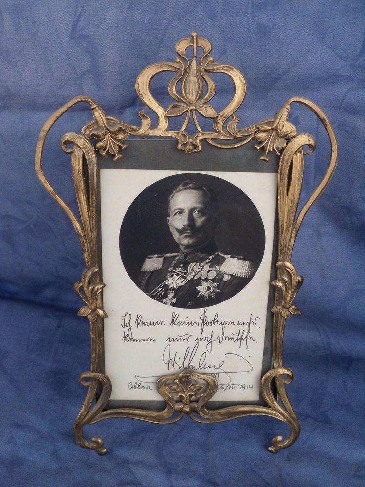 Alter Metall Jugendstil Bilderrahmen zum Hinstellen,Kaiser Wilhelm ...