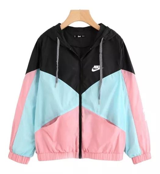 Corta Vento Feminina Preto e Pink Nike
