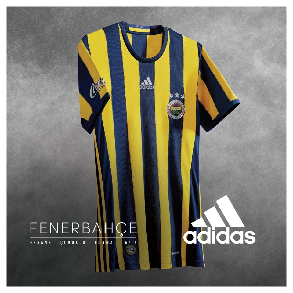 Camisas do Fenerbahce 2016-2017 Adidas Titular 472a20ae1f423