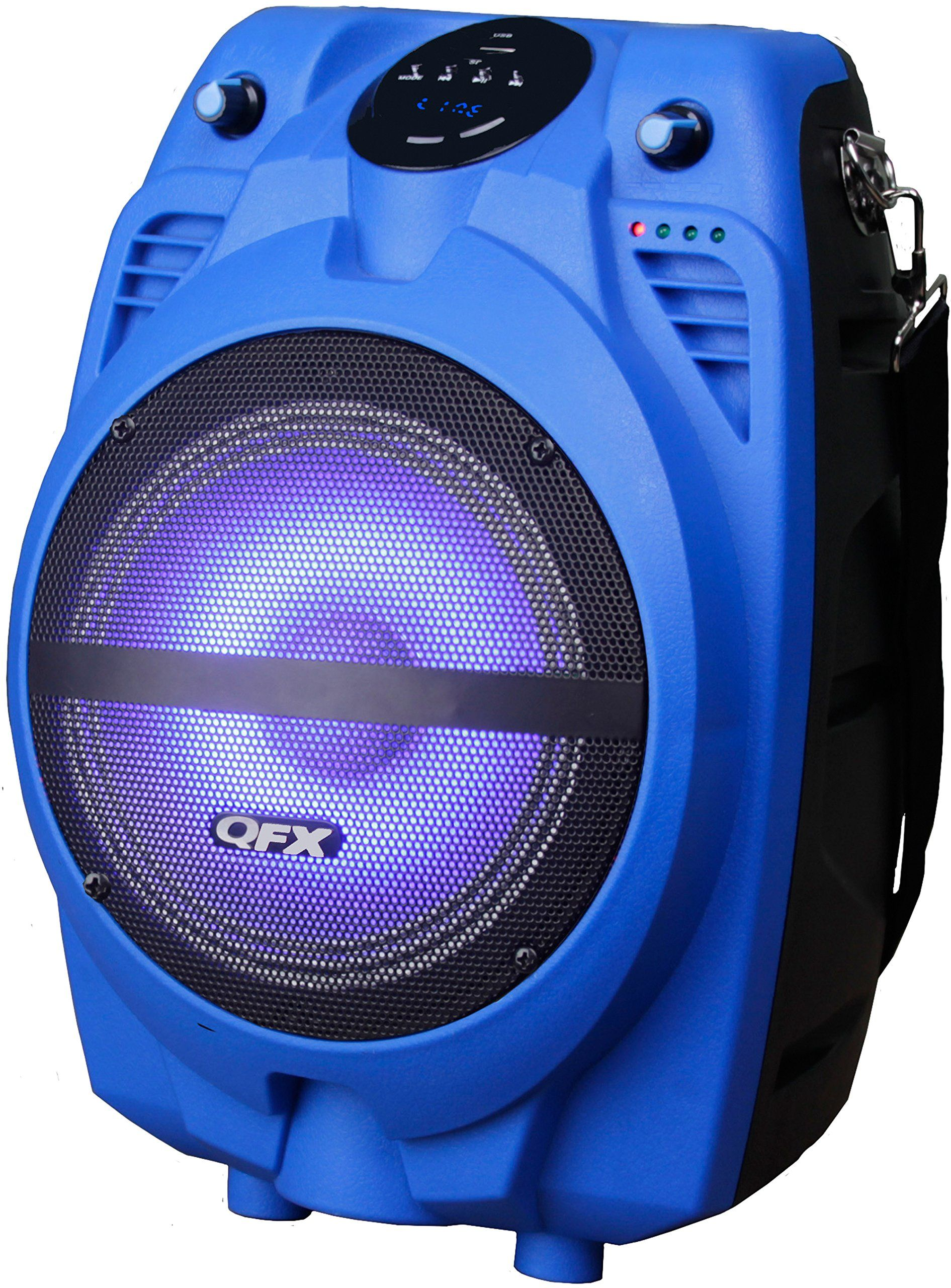 Moonlight Speakers qfx pbx-710700btl-bl portable bluetooth party speaker, blue. fm
