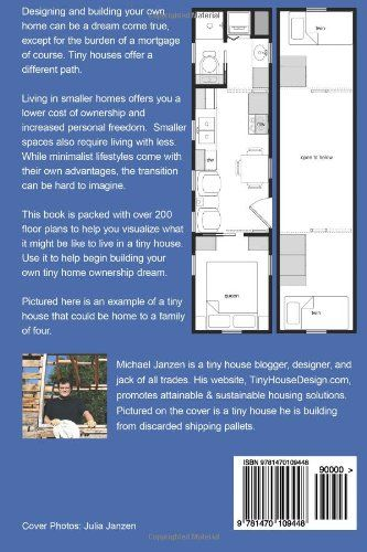 The Book: $22 Tiny House Floor Plans: Over 200 Interior ... on