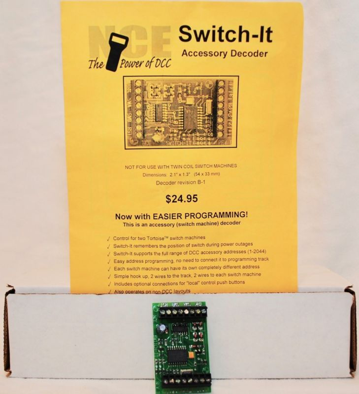 control accessories 180341: nce switch-it  dcc control of switch machines  -> buy it now only: $24 99 on #ebay #control #accessories #switch #machines