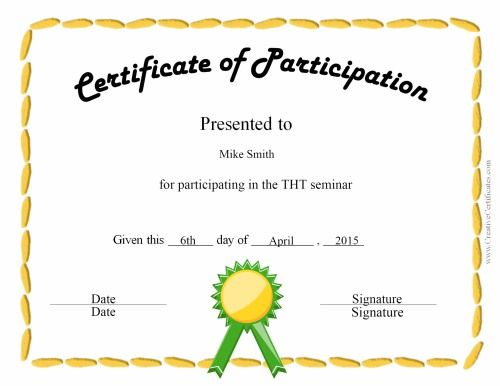 certificate of participation  fun certificate for kids | School:Class Management | Pinterest ...
