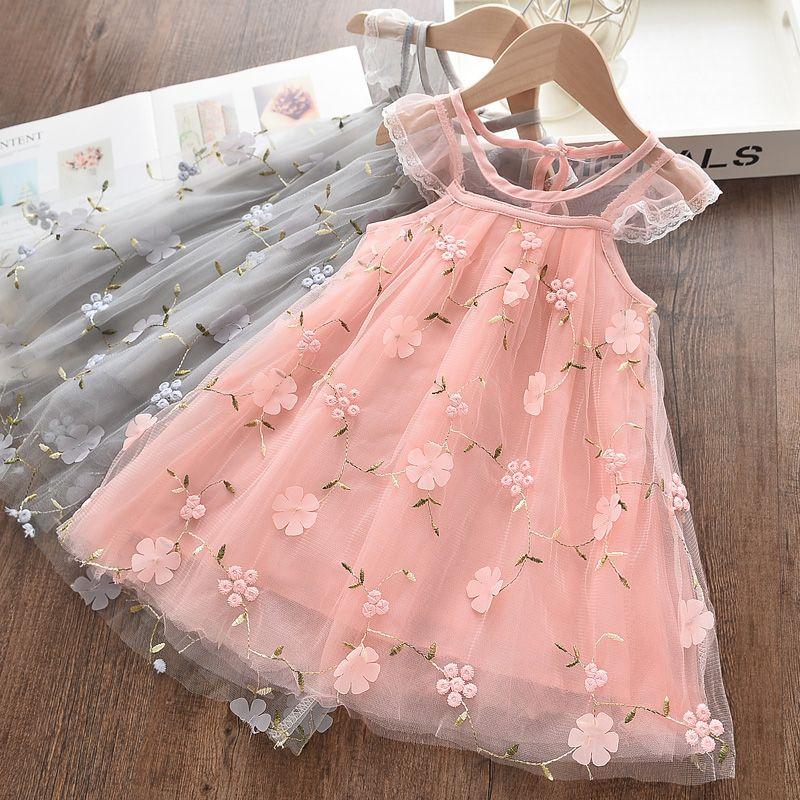 Melario Girls Dresses New Sweet Princess Dress Baby Kids Girls Clothing Wedding Party Dresses Children Clothing Pink Applique | www.babyliscious.com