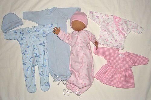 Preemie Doll Clothing Sewing Pattern