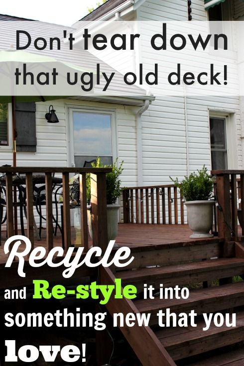 How To Reuse And Re-configure The Pieces From Your Old