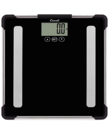 Escali Glass Body Analyzing Bathroom Scale 400lb Body Scale