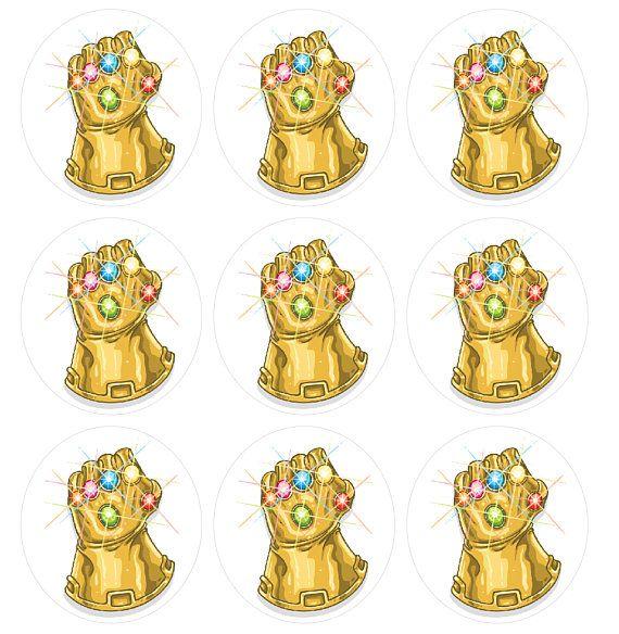 Thanos sticker Avengers Infinity War Black Panther Spider ...