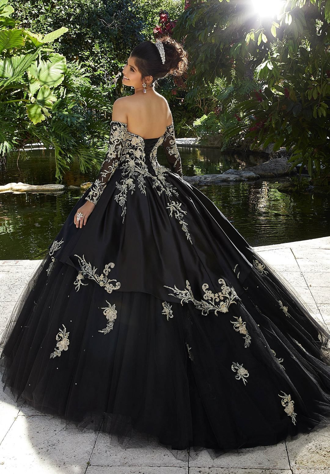 Embroidered Sweetheart Quinceanera Dress By Mori Lee Vizcaya 89248 Quincenera Dresses Ball Dresses Black Wedding Gowns [ 1549 x 1080 Pixel ]