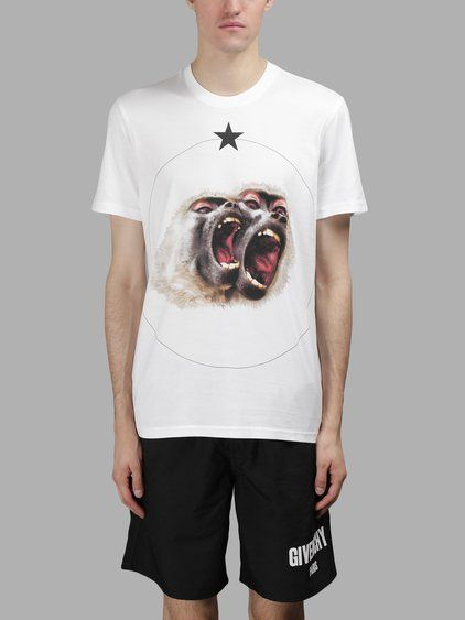 d6dbd32eb1 GIVENCHY Givenchy Men'S White Monkey Print T-Shirt. #givenchy #cloth #t- shirts