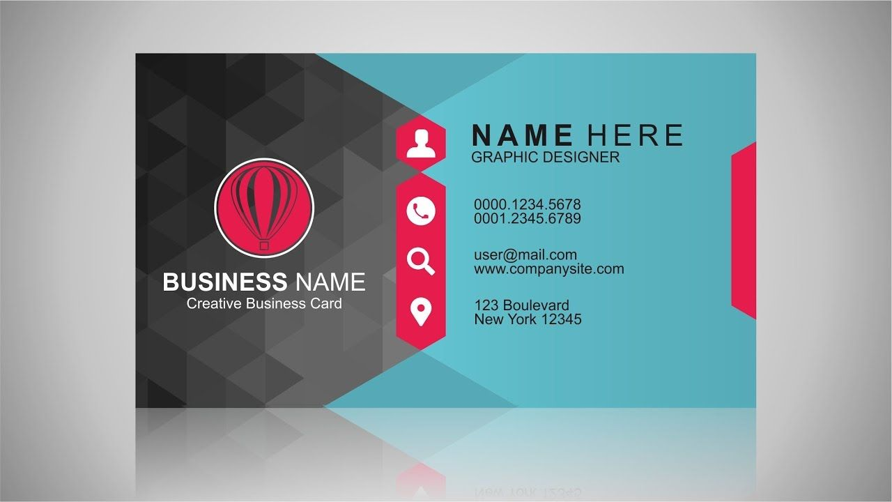 Business Card Design Inspiration Coreldraw Tutorial Business Card Inspiration Business Card Tutorial Business Card Design Inspiration