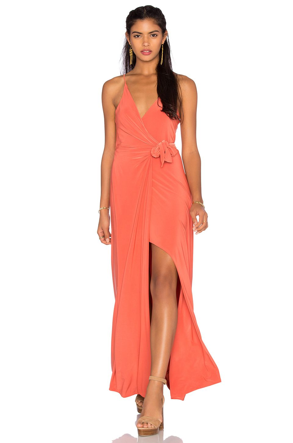1320e1d115d MISA LOS ANGELES MISA LOS ANGELES VERONIKA MAXI DRESS IN ORANGE. .   misalosangeles  cloth  dress  top  shirt  pant  coat  jecket  jacket   shorts  ski