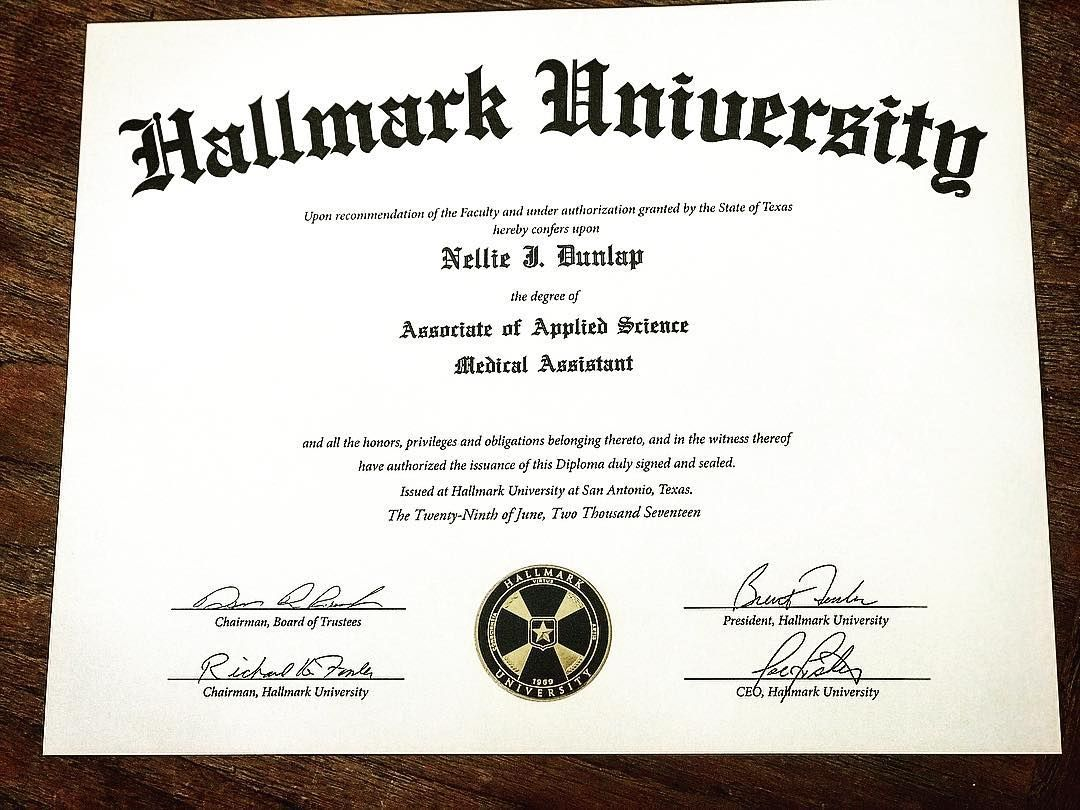 Happy to say i have my diploma had a great experience at hallmark career 1betcityfo Gallery