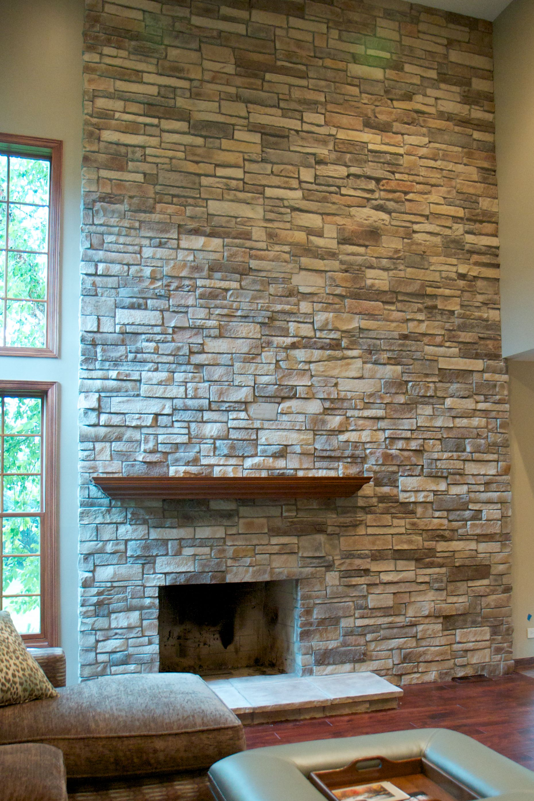 pinterest stack stone fireplaces | Stone Fireplace Picture Gallery ...