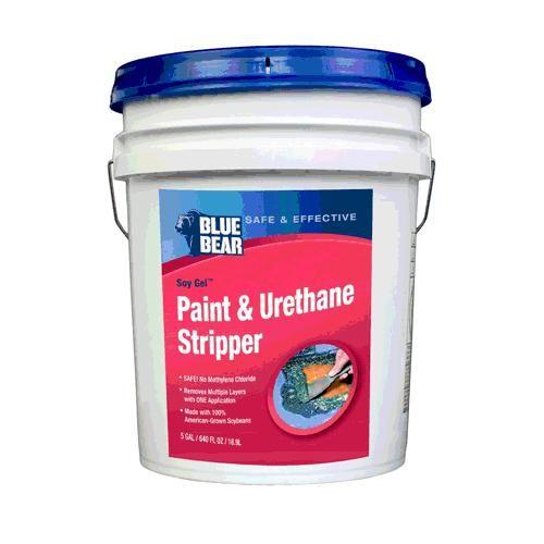 Blue Bear BBRSG5GEAMWT1 Soy Gel Paint & Urethane Stripper, 5 Gallon