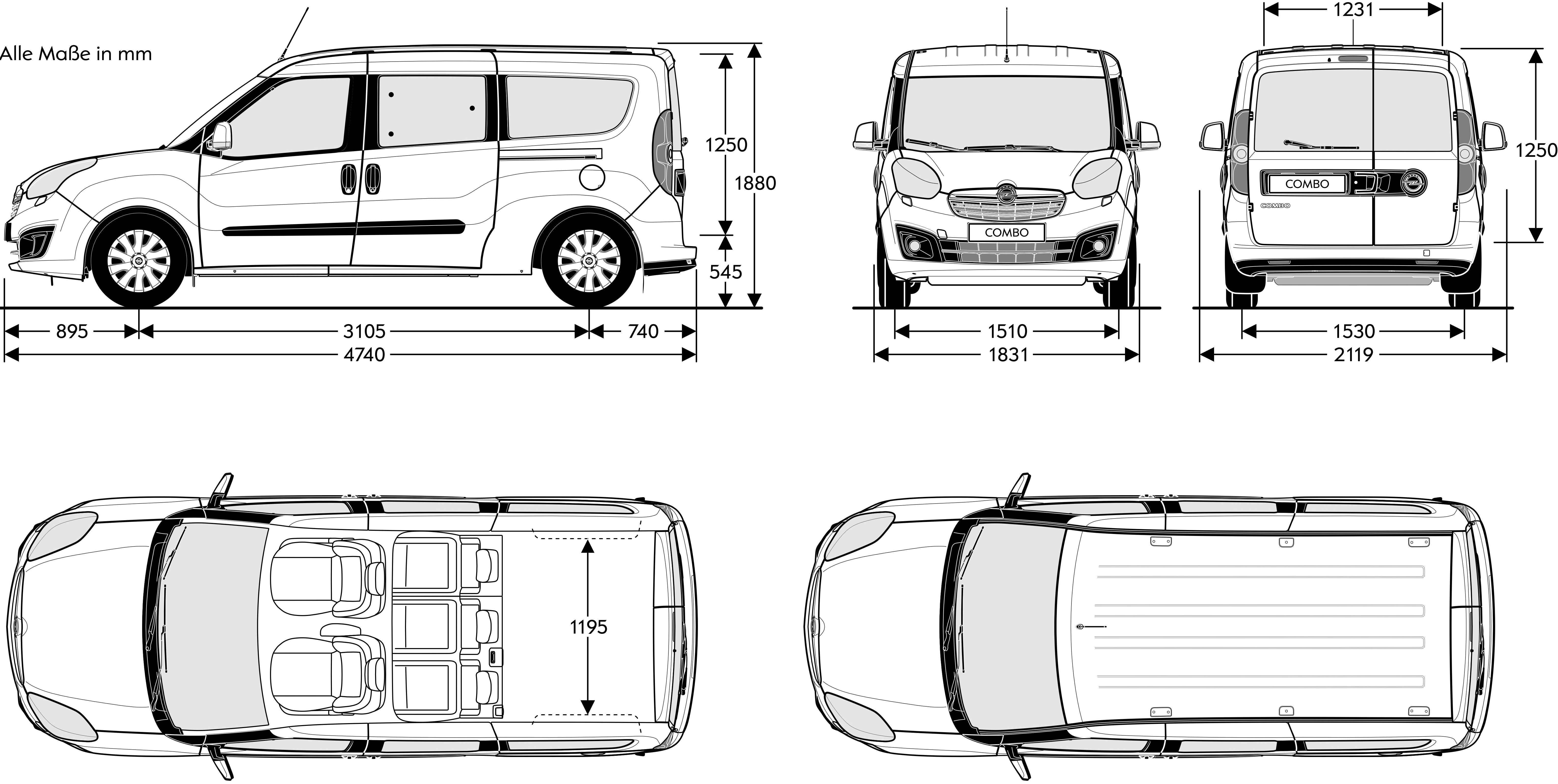 Fiat Doblo Van Dimension