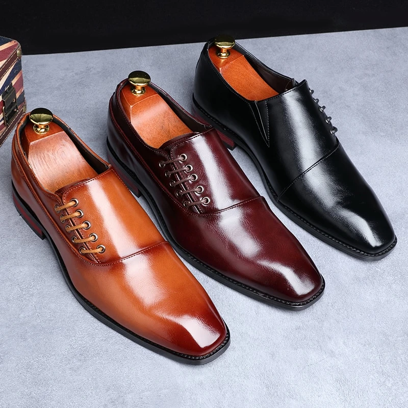 Men/'s Leather Classic Oxfords Shoes Dress Casual Formal Business Loafers Slip on