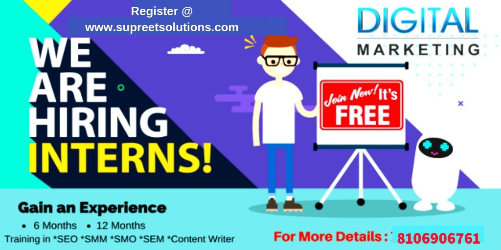 We Are Looking For A Digital Marketing Intern For Our Training Institute We Required Any Degree Fres Digital Marketing Digital Marketing Services Internship