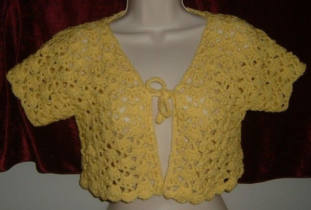 Lady's lacy crocheted bolero ref 484 £12.00