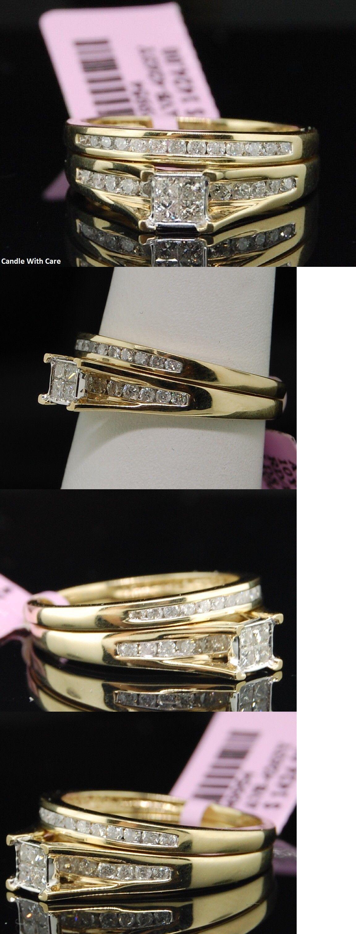 CZ Moissanite and Simulated Princess Cut Diamond Bridal Set