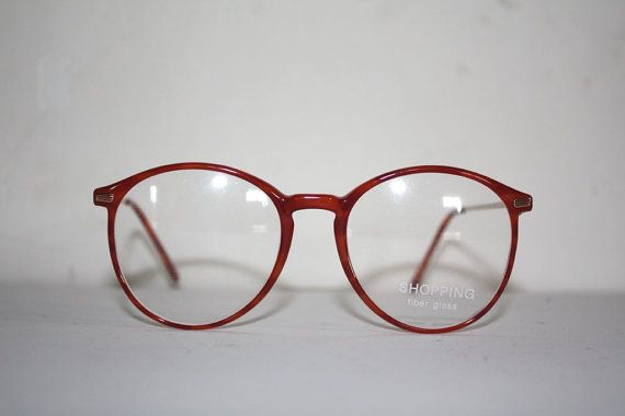 Vintage Eye Glasses Shopping 1101 Fiber Glass Pantos Round  Moscot Style Made in Italy. New