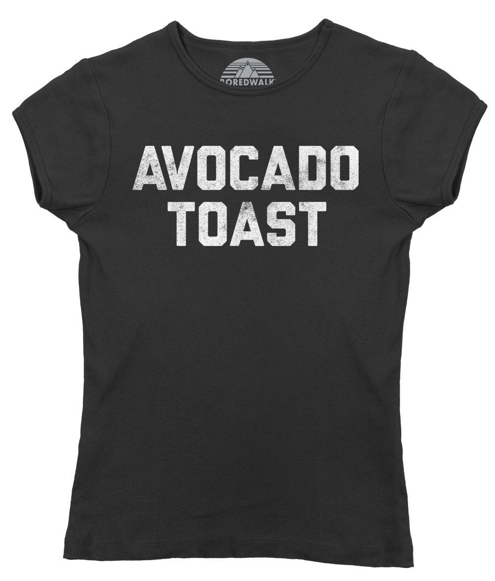 Women's Avocado Toast T-Shirt - Juniors Fit Funny Hipster Foodie