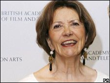 """Joan Bakewell  Women over 55 are """"invisible"""" on British TV, broadcaster and writer Dame Joan Bakewell has said.  http://news.bbc.co.uk/1/hi/uk/7768809.stm"""