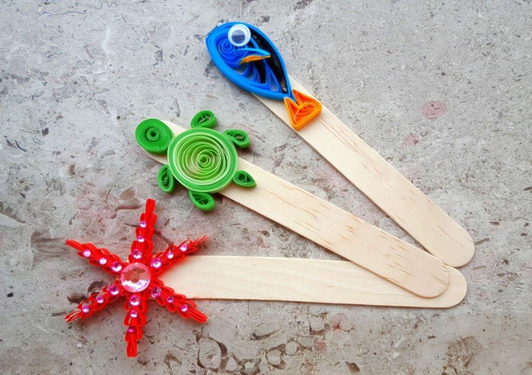 Segnalibri personalizzati con tecnica quilling