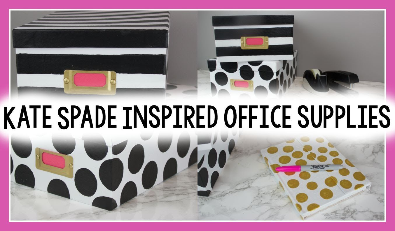 Teenage Girl Desk Accessories Diy Kate Spade Inspired Office Supplies Decoartprojects