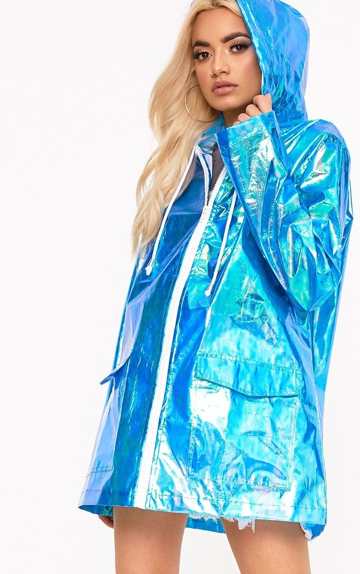 e31476ffa Green Holographic Rain MacBe saved from the rain in style with this holographic  rain mac. Featuri.