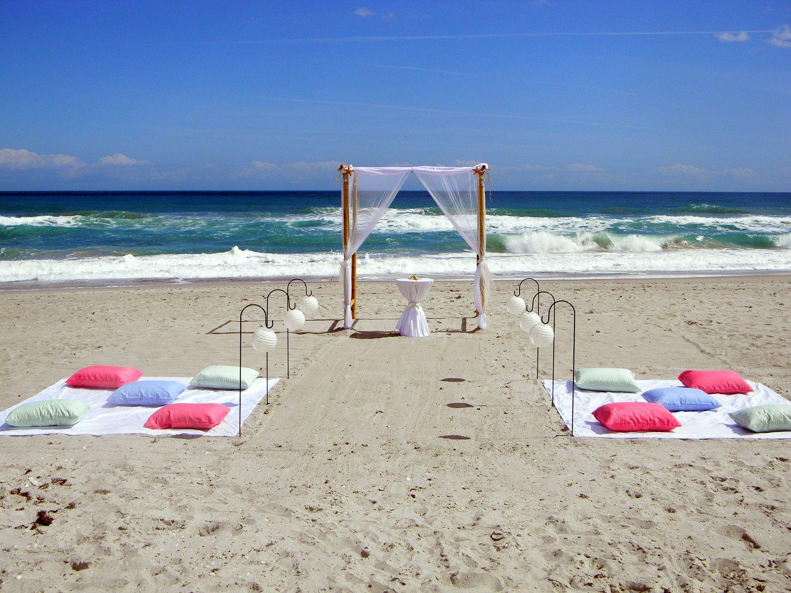 Seaside Chic Beach Wedding in Cocoa Beach florida www