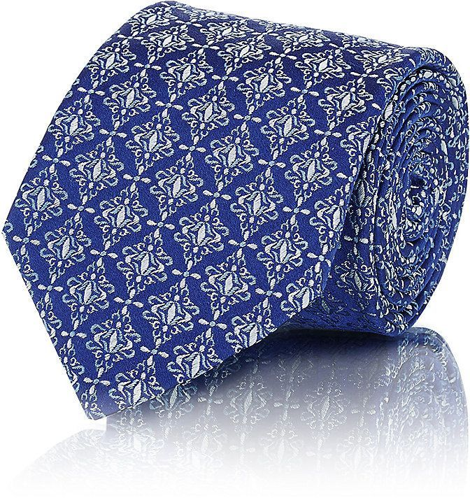 Mens Medallion Silk Jacquard Necktie Barneys New York UAAu1M