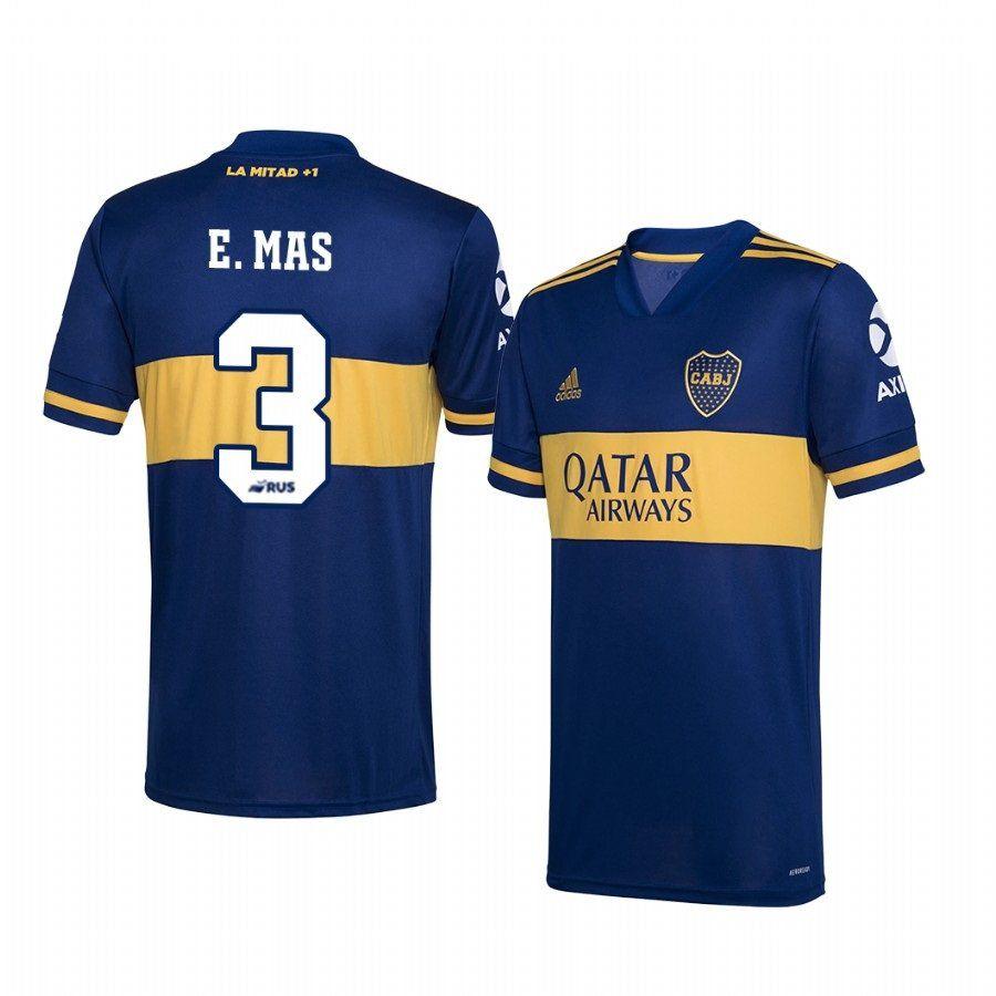 Emmanuel Mas Boca Juniors 2020-2021 Navy Home Jersey Men's | Boca ...