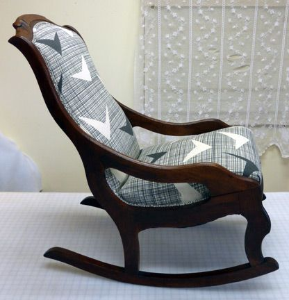 Skinny LaMinx Vintage Rocking Chair Restoration #organicupholstery