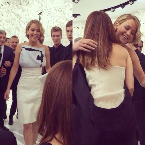 Emma Watson And Jennifer Lawrence At The Dior Fashion Show Jennifer Lawrence Pics Jennifer Lawrence Celebrities